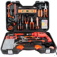 哈博 五金工具组合组套 木工电工手动工具箱冲击电钻电动工具套装