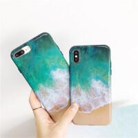 苹果手机壳 iphone保护套 iphone7/8/6/6S plus防摔全包硅胶软边保护套大理石保护壳