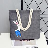 帆布包女包 休闲单肩包布袋包文艺手提布包购物袋大包大容量