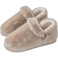 20190814103849790冬季保暖毛绒月子全包跟棉鞋男情侣家居家用室内女棉拖鞋厚底防滑