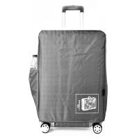 加厚行李箱保护套牛津布拉杆箱包套24/28寸皮箱旅行箱防尘袋防水 银灰色 28寸(加厚防水) 是箱套,不是箱子