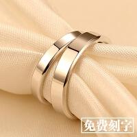 纯银情侣戒指一对创意对戒男女简约日韩版学生生日礼物