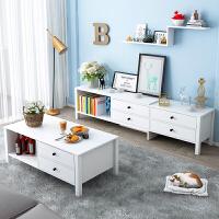 亿家达北欧电视柜茶几组合小户型客厅家具套装可伸缩电视机柜地柜