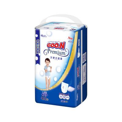 GOO.N大王 短裤式纸尿裤 天使系列 L46片(9-14kg)新生儿婴儿男女通用非拉拉裤吸水透气尿不湿 不漏尿,夜用,吸水