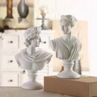 北欧石膏头像雕像摆件家居装饰品艺术品摆设人物素描石膏像