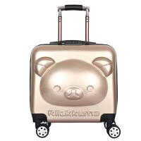 儿童拉杆箱万向轮女宝宝学生卡通小孩行李男18寸旅行密码 18寸3立体轻松熊
