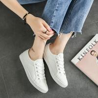 2017夏季小白鞋女平低系带低帮单鞋女学生板鞋休闲鞋