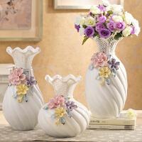 电视柜摆件客厅酒柜家居装饰品 花瓶现代工艺陶瓷结婚创意