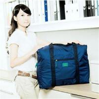 韩版防水尼龙折叠式旅行收纳包 旅游收纳袋 男女士衣服整理袋 蓝色