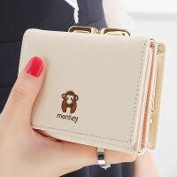 女士钱包 女 短款日韩版简约迷你学生小钱包零钱包钱夹皮夹女生钱包
