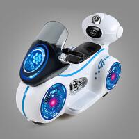 勾勾手太空儿童电动车摩托车三轮车可坐童车电瓶车汽车男女小孩