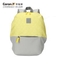 卡拉羊小款书包休闲双肩背包电脑双肩包中小学生书包男女亲子背包CX5938