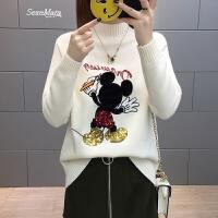 毛衣女打底衫短款长袖女士针织上衣女装春装2018新款女韩版时尚潮