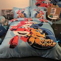 卡通棉三四件套男女孩床上用品儿童棉套件床单被套单人床定制
