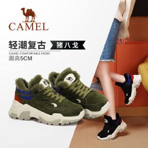 Camel/骆驼女鞋 2018冬季新款 休闲潮流复古时尚运动质感女单鞋
