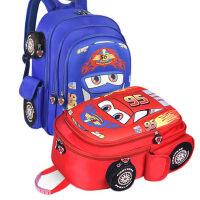 汽车儿童书包韩版男童双肩包幼儿园宝宝小学生1-3-4-6岁一二年级