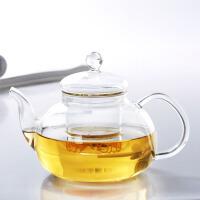 红兔子 耐热玻璃茶壶 功夫茶具带过滤内胆600ML 功夫红茶具不锈钢过滤泡茶杯家用水壶玻璃