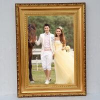 欧式金色实木相框 20寸24寸挂墙婚纱框拼图框海报框 画框定做