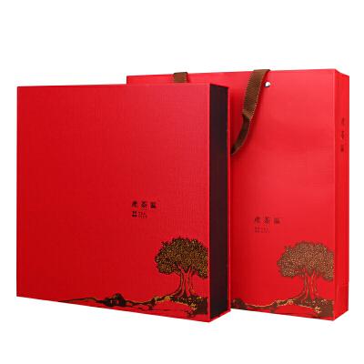 新品普洱茶礼盒包装空盒357g茶饼盒白牡丹七子饼黑茶现货通用 红色 不含茶饼哦