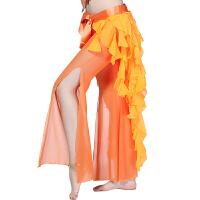 时尚肚皮舞臀巾腰巾成人雪纺九尾狐腰链 加密版练功表演两用腰链