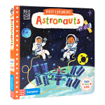 【中商原版】小小探索家 宇航员 英文原版 First Explorers Astronauts 机关操作纸板书 幼儿认