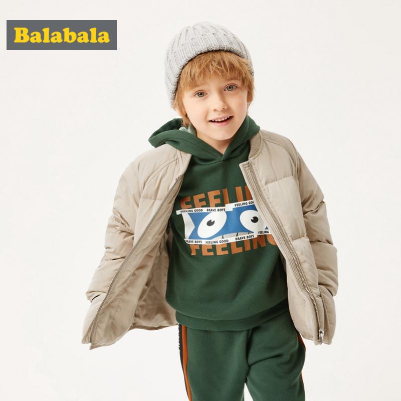 巴拉巴拉男童羽绒服童装秋冬2019新款宝宝加厚保暖外套韩版面包服