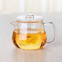 三件式玻璃茶具 高档耐热玻璃杯花茶泡茶杯 带盖内胆茶具玻璃杯500ml下午茶茶壶家用