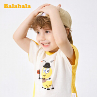 巴拉巴拉童装宝宝短t男童短袖T恤2020新款儿童夏装竹节棉文艺上衣