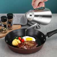304不锈钢油壶厨房油瓶油罐壶家用食用油�坠�滤大加厚小 装不漏油