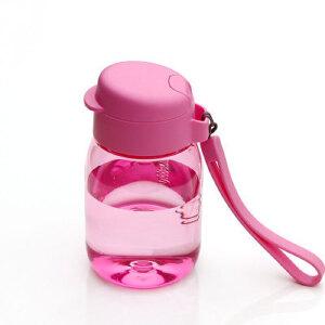 特百惠新品 嘟嘟企鹅杯350ML随手杯便携防漏迷你学生儿童塑料水杯 粉色