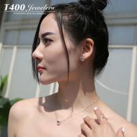 T400耳环韩国气质防过敏耳钉女个性简约 8804