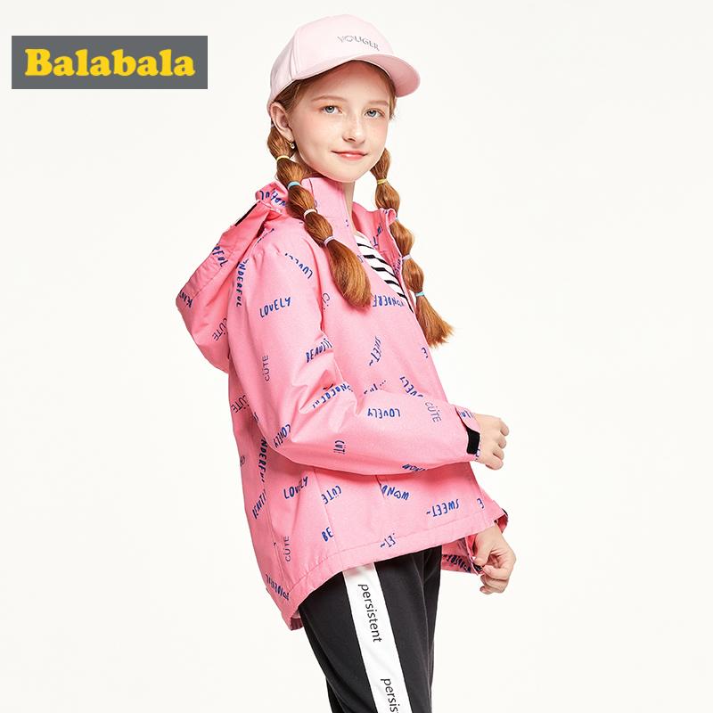 【2件4折价:115.6】巴拉巴拉童装女童外套中大童秋装新款儿童冲锋衣加绒保暖洋气