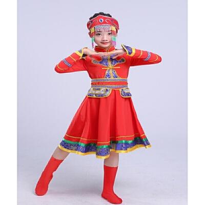 少儿少数民族演出服蒙古族藏族舞蹈男童表演服饰女童儿童演出服装 发货周期:一般在付款后2-90天左右发货,具体发货时间请以与客服协商的时间为准
