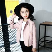 女童秋装外套皮衣夹克长袖2017新款韩版休闲修身儿童中大童潮流