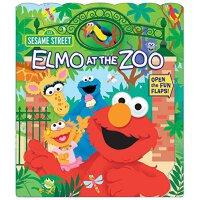 【现货】英文原版 芝麻街:阿莫逛动物园 纸板翻翻书 Elmo at the Zoo (Sesame Street)