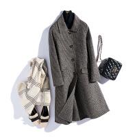 反季双面呢羊毛大衣小毛呢外套女中长款韩版2018新款零羊绒呢大衣