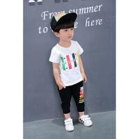 儿童夏装新款套装男童韩版两件套1-2-3-4-5-67岁宝宝夏季短袖T恤