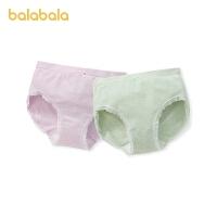 巴拉巴拉女童内裤三角裤棉儿童宝宝短裤中大童亲肤柔软两条装舒适