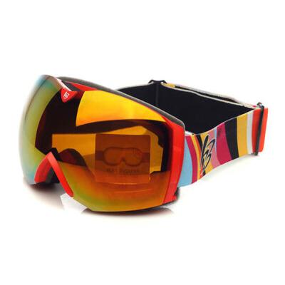 滑雪眼镜 滑雪镜大球面雪地护目镜 可卡近视 大视野