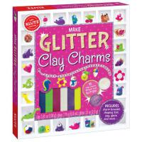 【限量现货】英文原版 趣味玩具书 Make Glitter Clay Charms 智慧黏土bling bling版 制作闪亮粘土饰品 含书及工具包 礼品书