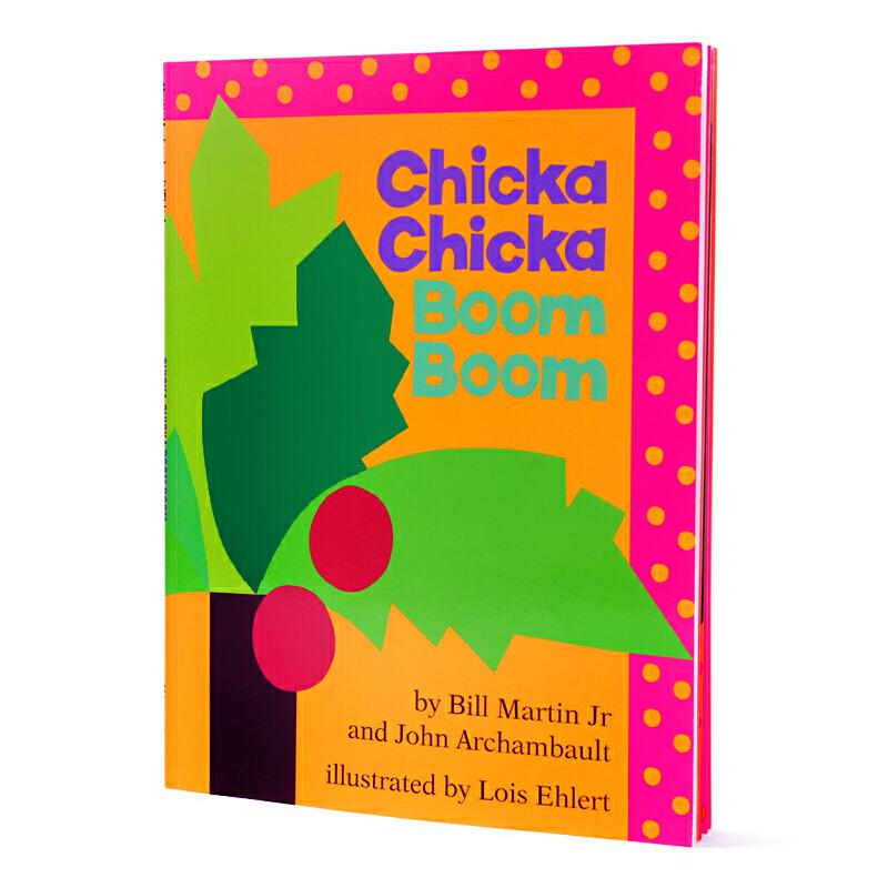 廖彩杏推荐英文原版书单 让26个字母鲜活起来 Chicka Chicka Boom Boom 叽喀叽喀碰碰幼儿启蒙认知读物 大开本 送音频Bill Martin(比尔·马丁)经典作品