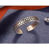 复古简约情侣对戒潮人泰银指环饰品尾戒银开口戒指女