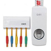 自动挤牙膏器创意家居挤压器带5位牙刷架KB7101懒人牙膏挤压器刷牙洗脸
