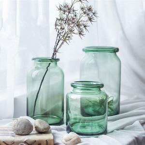 【每满100减50】幸阁 插花美式乡村玻璃花瓶彩色花瓶 手工花插花器