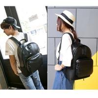 旅行背包休闲时尚双肩包女2018新款简约个性男包电脑包