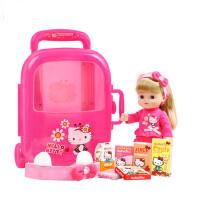 星月KT猫角色扮演儿童过家家女孩玩具旅行箱套装仿真洋娃娃