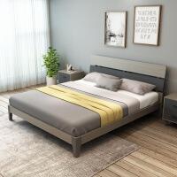 气动高箱储物床北欧家具高箱床1米8双人床1米5储物床床公寓配套板式木板床
