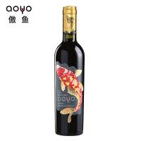 aoyo傲鱼智利原装进口红酒赤霞珠珍藏级干红葡萄酒375ml*1