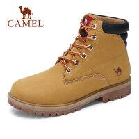 camel骆驼男鞋 秋季新款男鞋硬朗时尚高帮工装靴牛皮潮户外马丁靴