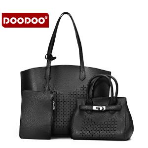 【支持礼品卡】DOODOO包包2017新款女包时尚潮流子母包通勤包女士单肩手提斜挎包 D6132
